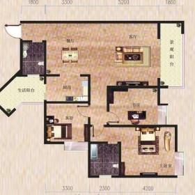 金滩·半岛豪苑H栋1-3户型