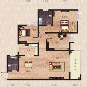 金滩·半岛豪苑H栋1-2户型