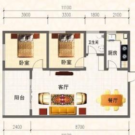 南长城·锦苑户型图