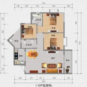 南长城·金铜国际1-C户型