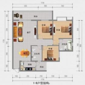 南长城·金铜国际1-B户型
