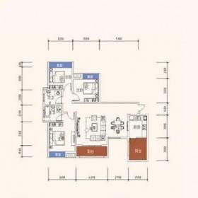 世纪华府1号楼-1户型图